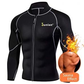 Реглан для сгонки веса мужской JUNLAN Men Sweat Neoprene Waist Fitness Jacket