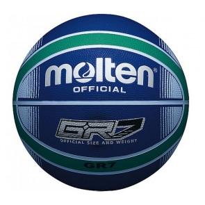 Мяч баскетбольный резиновый №7 MOLTEN BGRX7-BG-HD