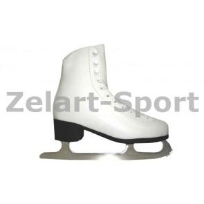 Коньки фигурные белые PVC TK-082-B-34