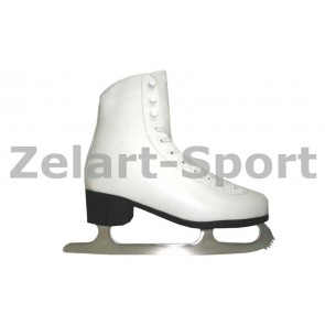 Коньки фигурные белые PVC TK-082-B-35
