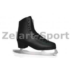 Коньки фигурные черные PVC TG-FO333B-45