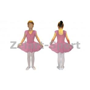 Платье для танцев (бейсик) розовое CHD01-P (х-б, шифон)
