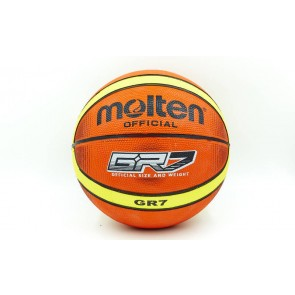 Мяч баскетбольный резиновый №7 MOLTEN BGRX7-TI