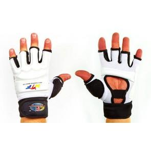 Перчатки для тхэквондо с фиксатором запястья WTF BO-2310-W
