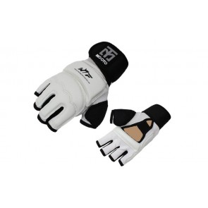 Накладки (перчатки) для таеквондо с фиксатором запястья PU+PL BO-5078-W MOOTO