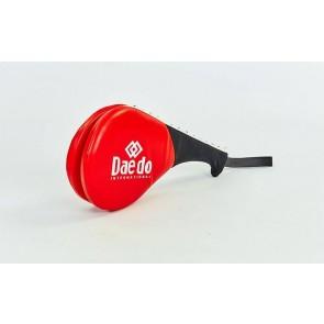 Ракетка для тхэквондо двойная Daedo BO-5489-R (PVC, наполнитель-пенополиуретан, красная)