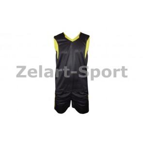 Форма баскетбольная мужская без номера CO-1036-BK