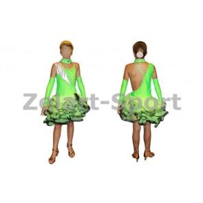 Платье Латина салатовый. CO-130188-G (нейлон, эластан)