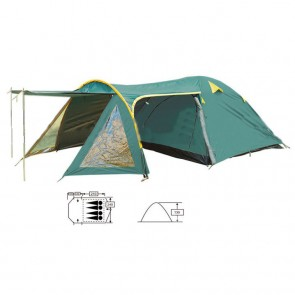 Палатка 4-х местная FRT-207-4 с тентом