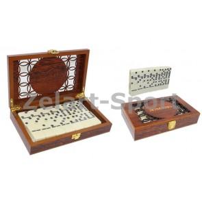 Домино в деревянном футляре (настольная игра) IG-5010E