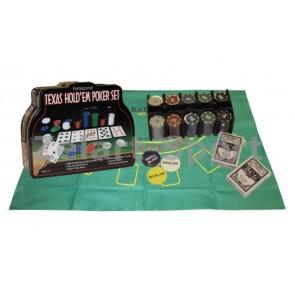 Покерный набор в метал. коробке-200 IG-1103240