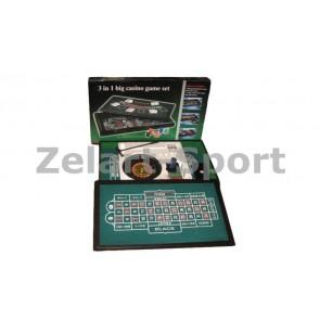 Мини-казино с рулеткой 3 в 1 IG-2055
