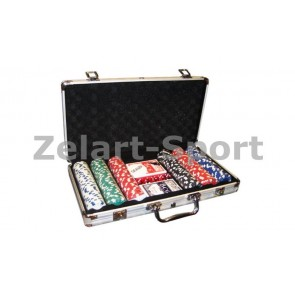 Покерный набор в алюм. кейсе-300 IG-2114