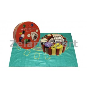 Покерный набор в круг. метал. коробке-240 IG-6616