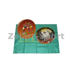 Покерный набор в круг. метал. коробке-120 IG-6617