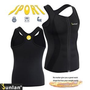 Майка мужская для похудения JUNLAN Men Sweat Waist Trainer Tank Top