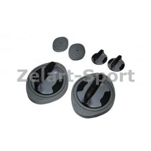 Упоры для отжиманий поворотные+диски здоровья (2шт) L-300 3-WAY PUSH-UP TWISTER