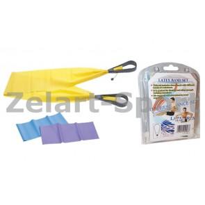 Ленты для пилатеса 3 шт. с ручками (эластичная лента) PS LY-320-3