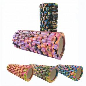 Роллер массажный (Grid Roller) для йоги, камуфляж FI-4940
