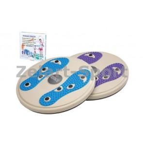Диск здоровья с магнитами и массажером рефлекторных зон на стопах d28см PS P-706