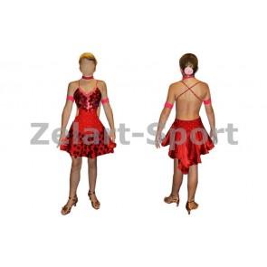 Платье Латина красн. RLD081104-R (нейлон, эластан)