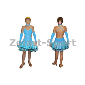 Платье Латина синий. RLD101141-B  (нейлон, эластан)