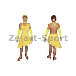 Платье Латина желтый RLD120173-Y (нейлон, эластан)