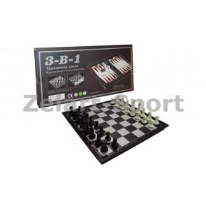 Шахматы, шашки, нарды дорожный набор SC59810