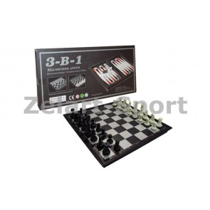 Шахматы, шашки, нарды дорожный набор SC9800