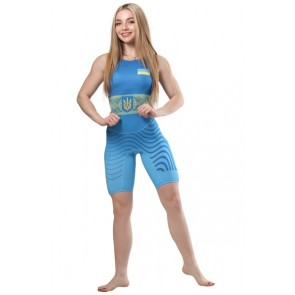 Трико для борьбы WRESTLER WOMENS APPROVED UWW blue