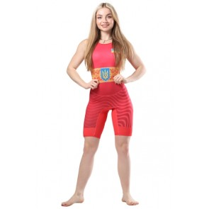 Трико для борьбы WRESTLER WOMENS APPROVED UWW red