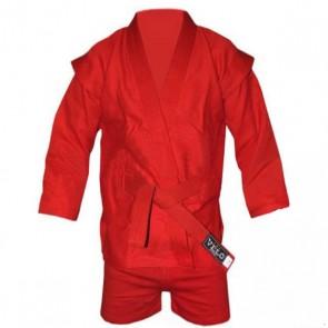 Кимоно для самбо красное (самбовка+шорты) VELO VL-8126