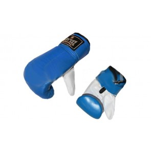 Снарядные перчатки (блинчики) Кожа ZEL ZB-4001
